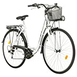 Multibrand Probike 28 City Zoll Fahrrad 7-Gang Urbane Cityräder for Heren, Damen, Unisex Schwarz 510 mm (Weiß, 510)