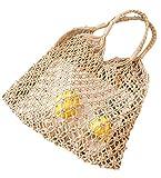 COIN Strandtasche Handarbeit Weben Hollow Handtaschen Shopper Taschen Kleine Sommer Strand...