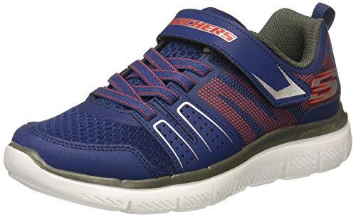 Skechers Jungen Flex Advantage 2.0 - High Torque Sneaker, Blau (Navy/red), 34 EU (Skechers Schuhe Jungs Sportliche)