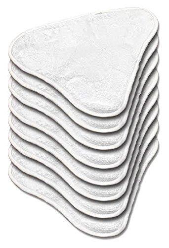 Microfaser Ersatz pads für Dampfreiniger 6 Stück (auswaschbar) für H20, Verkaufsverpackung inklusive Ersatzteilen H20 X5. (Mop-ersatz-pads H20)