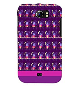 PrintDhaba Owl pattern D-1834 Back Case Cover for MICROMAX A110Q CANVAS 2 PLUS (Multi-Coloured)