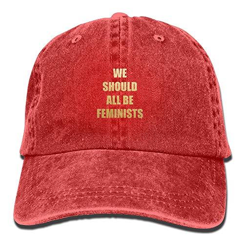 Nifdhkw Todos debemos ser Feministas Unisex Cowboy Cap Custom para Hombre y Mujer Design26