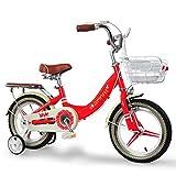 Xiaoping Fahrrad-Mädchen der Kinder Fahrrad-Fahrrad 12 Zoll 2-4 Jähriges Rundes Fahrrad, Rot/Blau (Color : Red)