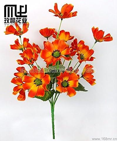 KAI-das wohnzimmer dekoration simulation blume - hibiskus - blüten klein fernlicht simulation 35cm insgesamt 4 (Essbare Arrangements Weihnachten)