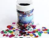 SALE - 100g Assorted Holographic Sequin Shaker Tub for Kids Crafts