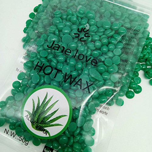 dxlta 50g Pearl Hard Wax Beans Hot Film Bead Haarpflege Epilation Haarentfernung Körper Aloe Vera