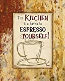 Feelingathome-Leinwand-Bild-Kitchen-Espresso-cm48x38-Kunstdruck-auf-Leinwand