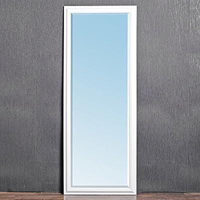 Design Wandspiegel glanz-weiß 160x60cm