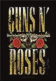 Heart Rock - Bandera Original de Tela con diseño Big Guns de Guns N' Roses, 110x 75x 0,1cm