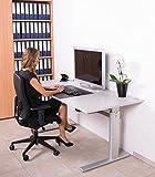 Höhenverstellbarer Schreibtisch in Weiß Ergonomisch Elektrisch B 160 cm x T 80 cm Bürotisch Arbeitstisch Workstation Arbeitszimmer (B 160 cm x T 80 cm, Weiß) - 4