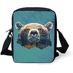 HUGS IDEA Y-CC416E - Bolso cruzados para mujer Verde oso Small