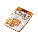 Best Basic Calculators - Casio MJ-12VCB-RG Desktop Calculator (White and Orange) Review