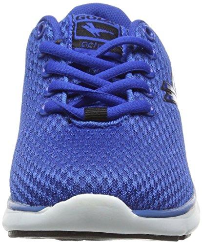 Gola Equinox, Chaussures de Running Compétition Garçon Bleu - Blue (Blue/Black)