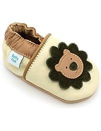Dotty Fish Weiche Baby und Kleinkind Lederschuhe. Tiermotive für Mädchen. 0-6 Monate bis 3-4 Jahre