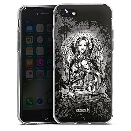 Apple iPhone X Silikon Hülle Case Schutzhülle Joker - Lost Angel Engel Totenkopf Silikon Case transparent