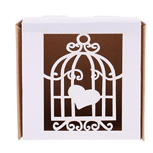 Süßigkeit Box Hochzeit Party Bevorzugung Geschenk Box Cookie Tasche - Vogelkäfig, 6 x 6 x 4 cm (Cookie-bevorzugung Taschen)