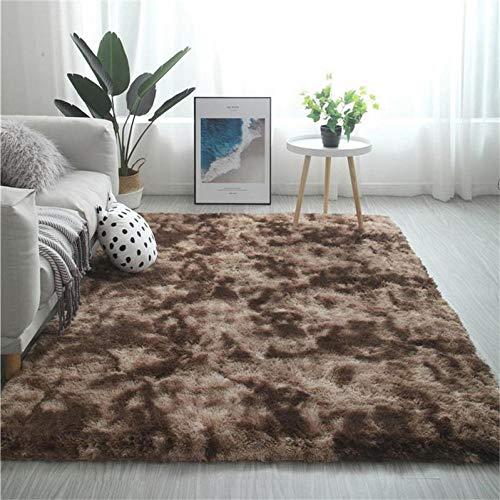 TOORY mural Teppich Schlafzimmer Ins Wind Mädchen Nachttisch Nordic einfache Plüsch süße Kissen Kletterkissen-80 * 200 cm_Mokka