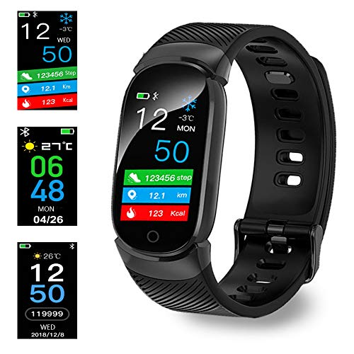 Montre Connectée, Bluetooth Montre Smartwatch Sports Smart Watch Con Carte Caméra SIM de Soutien et Carte de TF Pédomètre Sommeil Calories pour Samsung Huawei Sony Android pour Homme Femme (Noir)