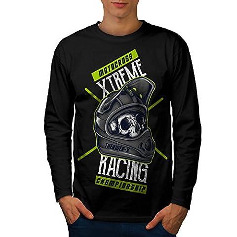 motocross Extrême sport Homme L T-shirt à manches longues | Wellcoda