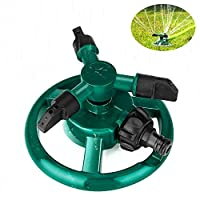 Coquimbo Garden Sprinkler Automatic Water Sprinkler 3 Arm Lawn Sprinkler, 360 Degree Rotating Sprinkler System for Garden, Lawn Irrigation