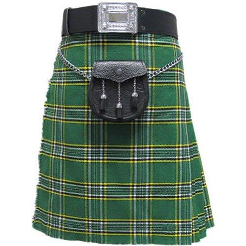 Tartanista - Baby/Jungen Set aus Kilt, Sporrangürtel & Strumpfhaltern - Irish National - 5-6 Jahre - Taille 56-61cm (22-24