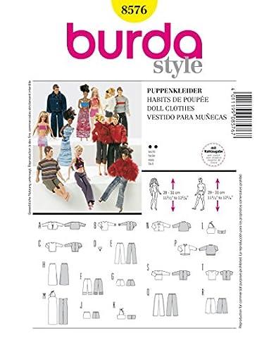 Burda 8576 Schnittmuster Puppenkleider Barbie (Puppen, Gr. one size) Level 2 leicht