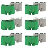 PUMA Herren Basic Trunk Boxershort Unterhose 12er Pack amazon green 075 - M