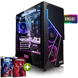 Megaport PC Gamer AMD Ryzen 5 2600X 6x 4,20 GHz Turbo • GeForce RTX2060 6Go • 16Go DDR4 • 240Go SSD • 1To • Windows 10 • WiFi • USB3.0 Unité centrale ordinateur de bureau PC gaming PC ordinateur gamer