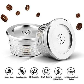 Walmeck Wiederverwendbare Kaffeekapseln aus Edelstahl Wiederverwendbarer Kaffeekapsel-Tassenfilter Kompatibel mit Delta Q