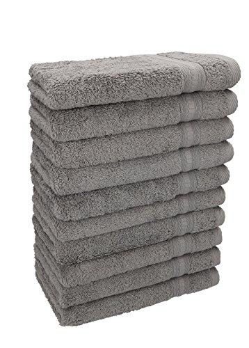 Betz. set di 10 asciugamani per ospiti misure: 30 x 50 cm, qualità: 600g/m² gold, colore: grigio argento