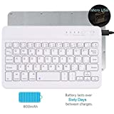 Universal Ultrathin Wireless Bluetooth Keyboard [QWERTY] for Apple/Samsung/HP/Acer/ASUS/Lenovo/LG Tablet with Windows/Android / IOS System, 7 inch