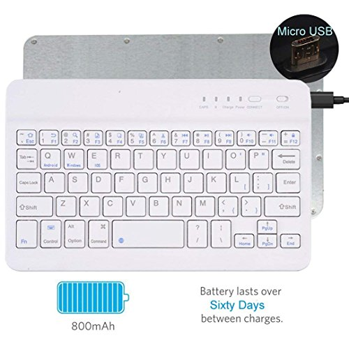 "tastiere per tablet samsung Tempo QWERTY Italiano Layout Tastiera Wireless Bluetooth Keyboard 7"" Compatibile Qualsiasi Android / Windows /IOS-Smartphone Tablet"