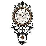 MEILING Mode Kreative Wohnzimmer Wanduhr Metall Schmiedeeisen Vintage Große Moderne Gartenschaukel Uhr Stumm