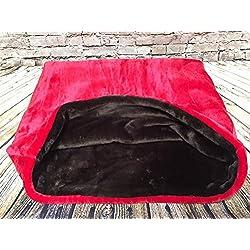 Snuggle saco/saco de dormir/mascotas cama para gatos o perros por Pet Rojo y marrón chocolate de la Lola