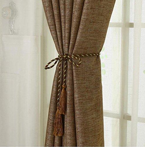 One Paar Vorhang Gurt Band Binden Quaste Raffhalter Seil Wohnzimmer Schlafzimmer Home Dekoration braun