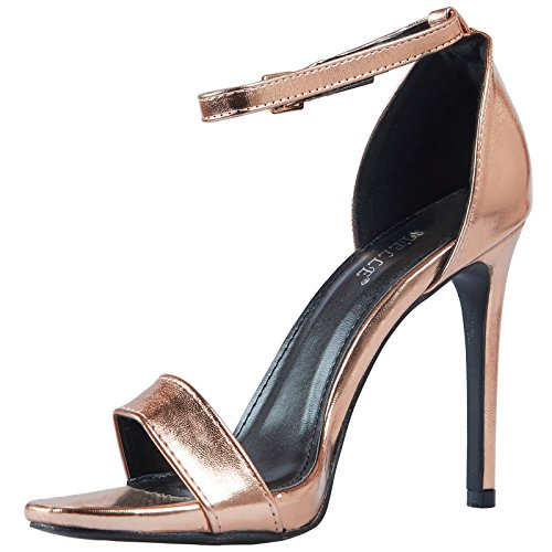 ByPublicDemand Everly Femme Talons hauts sandales Rose