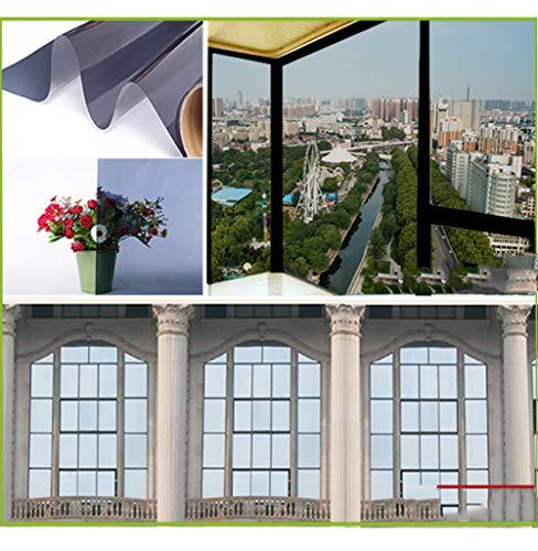 LRQY Fensterfolie Spiegel Einweg Reflektierend Fenstertönung, Wärmesteuerung Anti UV Blackout Privatsphäre Dekorative Aufkleber Selbstklebend,8,152x400cm(60x157inch) (Reflektierende Privatsphäre Fensterfolie)