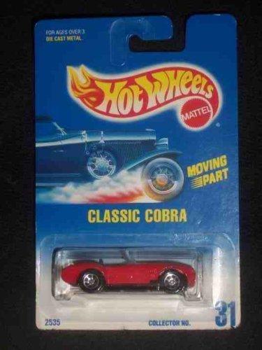 #031 Classic Cobra Moving Part Black Metal Base 7-Spoke Wheels Dark Blue Card Collectible Collector Car Mattel Hot Wheels 1:64 Scale by Hot Wheels - Dark Metal Base