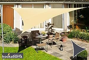 Kookaburra 3,0m Dreieck Sandfarben Gewebtes Sonnensegel (Wasserfest)