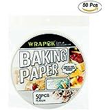Wrapok 8 pulgadas de pergamino redondo Perforated Bamboo Steamer Liners de papel 50 Count Non-stick para la freidora de aire Hornear la cesta de cocción Cake Cake Cans