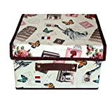 #4: Tied Ribbons Foldable Toy Storage Containers For Office |Basket For Home | Basket For Storage With Handle (25 cm X 38 cm X 26 cm, 25 Ltr)