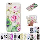 V-Ted Coque Apple iPhone 6S Plus 6 Plus Rose Fleur Silicone Ultra Fine Mince Bumper...