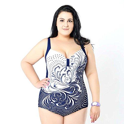 XL-übergewichtige Menschen kleiden einteilige Bikini-Badeanzug 60 See Blau