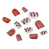 Faux ongles pour enfants, Kolylong の 12 Pcs appuyer sur False Nails Motif de Dessin Animé Complet Nail Pré colle pour les Enfants Filles décoration d'ongles Diy Kit
