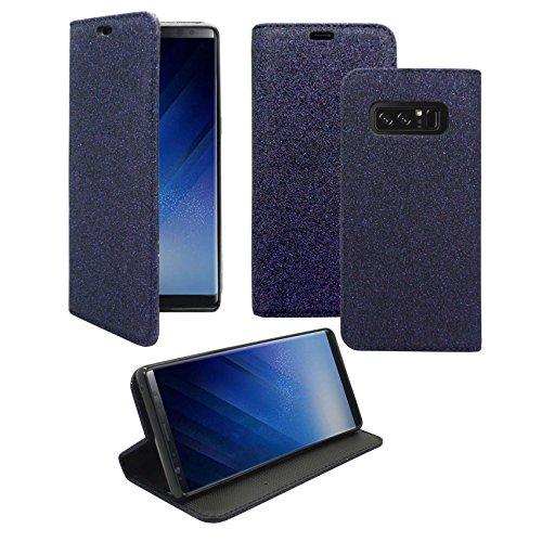 Preisvergleich Produktbild Kompatibel mit Samsung Galaxy Note 8 Glitzer Dunkelblau Design Handy Hülle