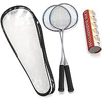 Premium calidad Juego de raquetas de bádminton por capacitado, par de 2raquetas, ligero y resistente, con 5LED volantes, para Profesionales y principiantes., bolsa de transporte incluida