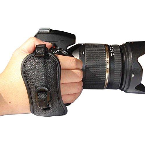 First2savvv OSH0402 Professionelle Leder Hand Grip Kamera Handschlaufe für Nikon D7000 D90 D5100 D5000 D3100 D3000 D700 D300s D3X D3S D800 D800E D3200 D4 D600 D5200 COOLPIX P7100 P510 L310 L810 P520 L820 F6 D7100 L320 Canon EOS 1100D 500D 550D 600D 60D 7D 5D Mark II EOS-1D X EOS-1D Mark IV EOS 1V PowerShot SX40 HS EOS 60Da 5D Mark III 650D EOS 300D G1 X EOS EOS-1D C EOS 6D OLYMPUS SP-510 UZ SP-820UZ SP-620UZ E30 E5 E620 E450 E-M5 E-M1 (Kamera Handschlaufe Für D5200 Nikon)