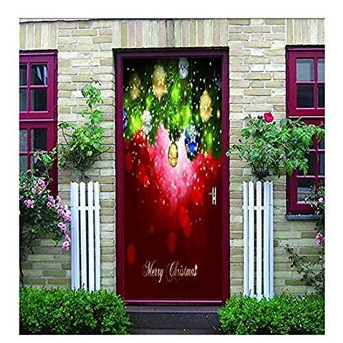 oration Selbstklebende Klebrige Helle Sterne Weihnachten Elemente Schlafzimmer Tür Aufkleber Wandaufkleber 77X200 Cm Weihnachten ()