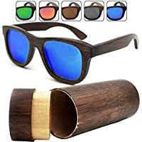 Ocean Sunglasses wood Victoria - lunettes de soleil polarisées en Bambou - Monture : Noir - Verres : Fumée (53000.0) NP7J3Kc