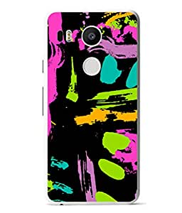 PrintVisa Designer Back Case Cover for LG Nexus 5X :: LG Google Nexus 5X New (Colourful Painting Art Oilpaint Rang Modernart Violet)